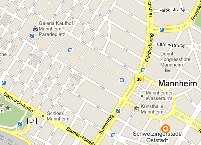 Mannheim Map, Carwash